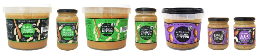 Honest to Goodness Organic Nut Butter Spreads