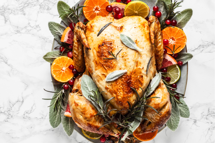Roast Turkey with Cranberry, Macadamia and Sage Stuffing